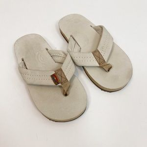 Rainbow Leather Flip Flop Thong Sandals size 9/10